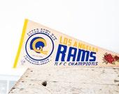 Vintage Los Angeles Rams Super Bowl XIV Pennant -  Los Angeles Rams Pennant Souvenir Vintage Pennant California Pennant