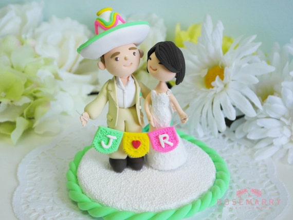 hispanic wedding cake toppers custom cake topper mexican theme by therosemarrytoppers 15250