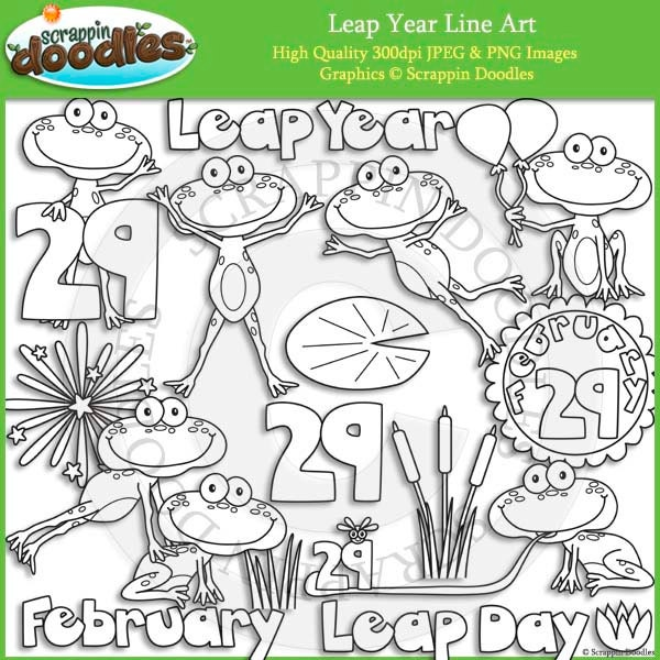 Line Drawing Leap Years And Euclid : Leap year line art