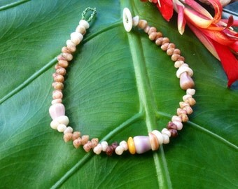 Kahelelani Shell Bracelet Kauai Beach Jewelry Natical Bracelet Kauai Puka Shell Bracelet Shells Puka Cone Shell Bracelet Eco Friendly