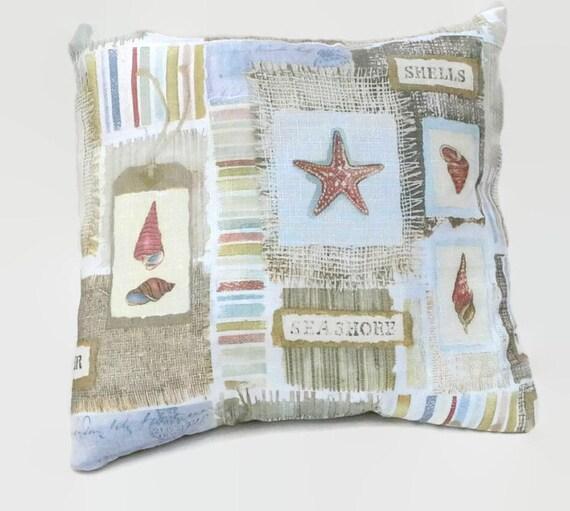 Beach Cottage Throw Pillows : Sea Shell Eco Friendly Throw Pillow Cover Beach Cottage Decor