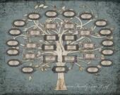 Custom Family Tree with 31 Names.