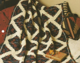 The Needlecraft Shop Quilt-Look Favorites   Quilted Lattice   Afghan Collector's Series Pattern