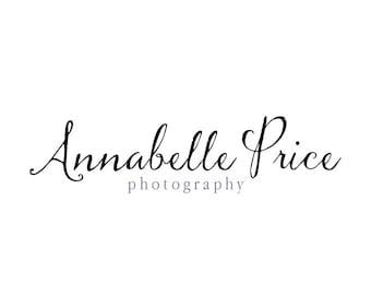 Photography Logo and Watermark - Handwritten Style Signature Calligraphy Logo Design