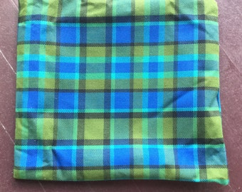 Blue Westfalia Plaid Pillow Cover