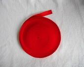 Red Grosgrain Cord Roll Destash Craft Supply 2mm tick 2.5cm wide 1kg