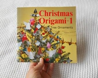 Christmas Origami Tree Ornaments  Vintage 1986 Book