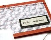 Baseball Valentine Card, Husband Valentine Card, Card For Boyfriend, Happy Valentine's Day Greeting Card, Hello Handsome