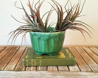 Mid Century Green Planter