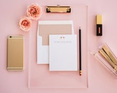 Rose Gold Personalized Stationery