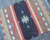 Graphic Woven Wool Rug - 4 x 6 feet