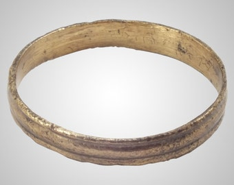Ancient Viking Mans  Wedding Band Jewelry C.866-1067A.D. Size 10 1/2 (20.2mm)(Brr44)