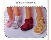 1LC01 Bella a shoe collection PDF Knitting pattern for 13 and 14 inch Dolls