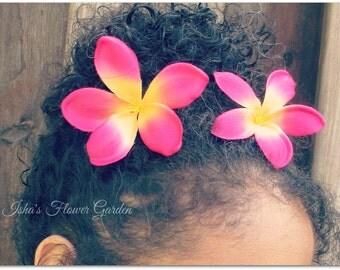 Plumeria hair flower, realistic, tropical hair flower, pink plumeria, white plumeria