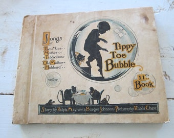 Tippy Toe Bubble Childrens Books,  Unique Nursery Bookshelf Decoration, Gifts for New Baby Parents, Illustrated Book Present for Kids