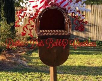 Christmas Mailbox Topper, Christmas Décor, Mailbox Topper, Christmas Swag, Whimsical Mailbox Topper