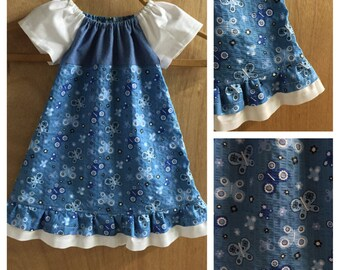 Infant Butterfly Peasant Dress, size 9 months