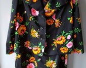 Vintage 1970's 2-piece Polyester Sleeveless Mid-Length Dress Suit , Size 20 1/2