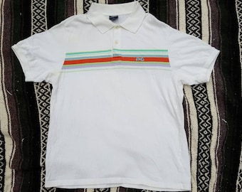Vintage 1980's Le Tigre Preppy Hipster Polo Shirt, Size, L