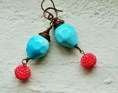 Berries by the Pool vintage Lucite earrings