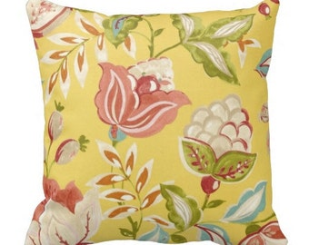 outdoor pillows, yellow pillows, throw pillows, floral outdoor, flower pillow, patio pillow, patio decor, waverly pillows, pillow covers