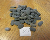Lot of 50 Oval and Oblong Smooth Beach Stones in Shades of Gray