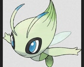 Fabric Celebi Wings in Minky and wire