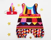 circus romper for baby girls
