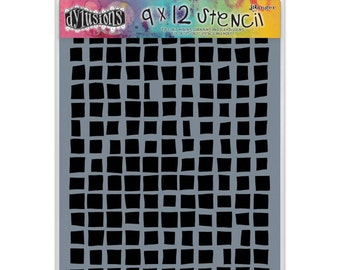 Dyan Reaveley Stencil SQUARES Dylusions 9 x 12