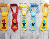 Mickey Mouse Birthday cake smash boy chevron blue first Party à la carte I am one tie baby necktie #1 #2 one two costume 12 18 24 toddler