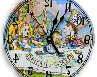 Tea Party Clock  Alice in Wonderland Decor
