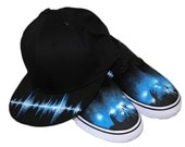 Soundwave Painted Sneakers and Hat Sale Combo Music Concert Mens 8