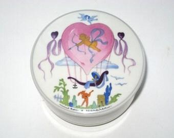 Villeroy & Boch LE BALLON Trinket Box Jean Mercier - Cupid Sweetheart Lover's Heart Balloon