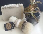 The Blissful Shave Bar and Brush Starter Kit