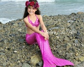 Hot Pink Swimmable Mermaid Tail