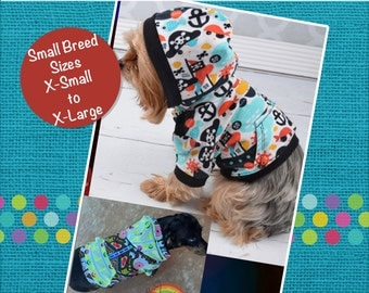Toby's Hooded T-Shirt for Dogs PDF Pattern sizes XS to XL
