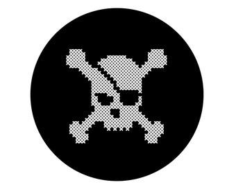 Skull and Crossbones PATTERN   Pirate flag   DIY cross stitch