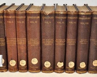 The Works of William Shakespeare [9 Volume Set], 1863, Clark