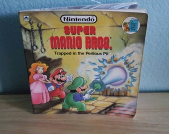 Vintage Children's Book - Super Mario Brothers Trapped in the Perilous Pit - 1989 Rare