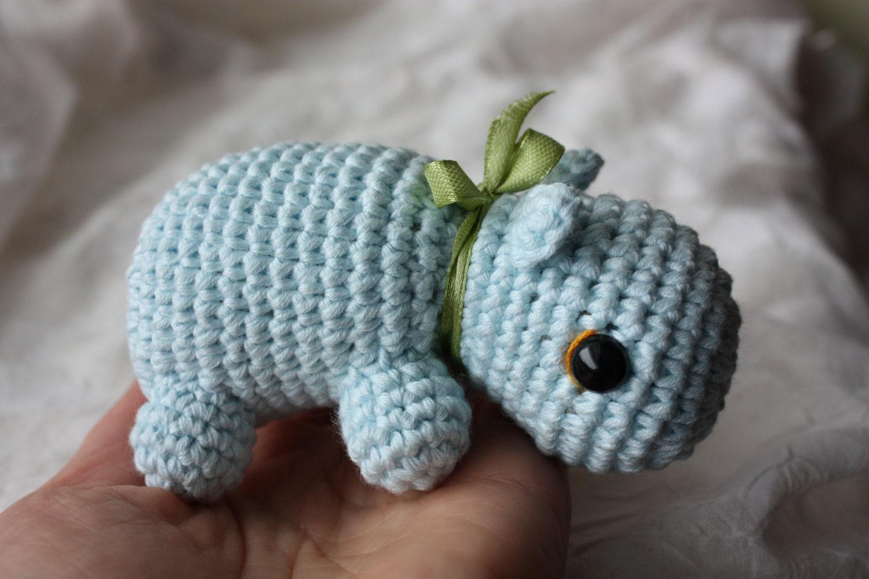 Amigurumi Crochet Tools : PATTERN Amigurumi Hippo Pattern Crochet Amigurumi PDF