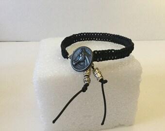 Bracelet,Horse Head Bracelet,Black Horse Bracelet,Friendship Bracelet,String Bracelet,Knotted Bracelet,Macrame Bracelet