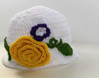 White Spring Hat