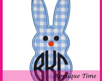 Instant Download Single Marshmallow Bunny Face Machine Embroidery Applique Design 4x4, 5x7 and 6x10