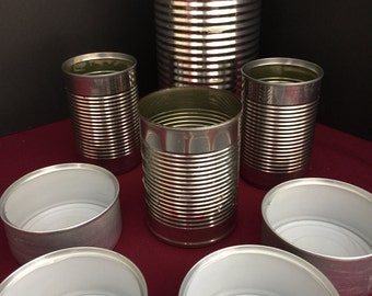 Empty Cans - Upcycled Recycled Repurposed Cans for Crafts - 8 cans varying sizes