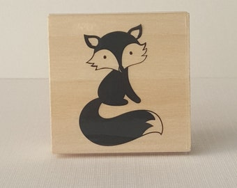 Foxy (F2) Wooden Mounted Rubber Stamping Block DIY cards, scrapbooking, tags, Greeting Cards, and Scrapbooking