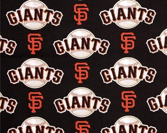 MLB San Francisco Giants 100% Cotton Fabric by the yard