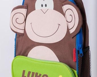 Personalised Child's Monkey Backpack Rucksack