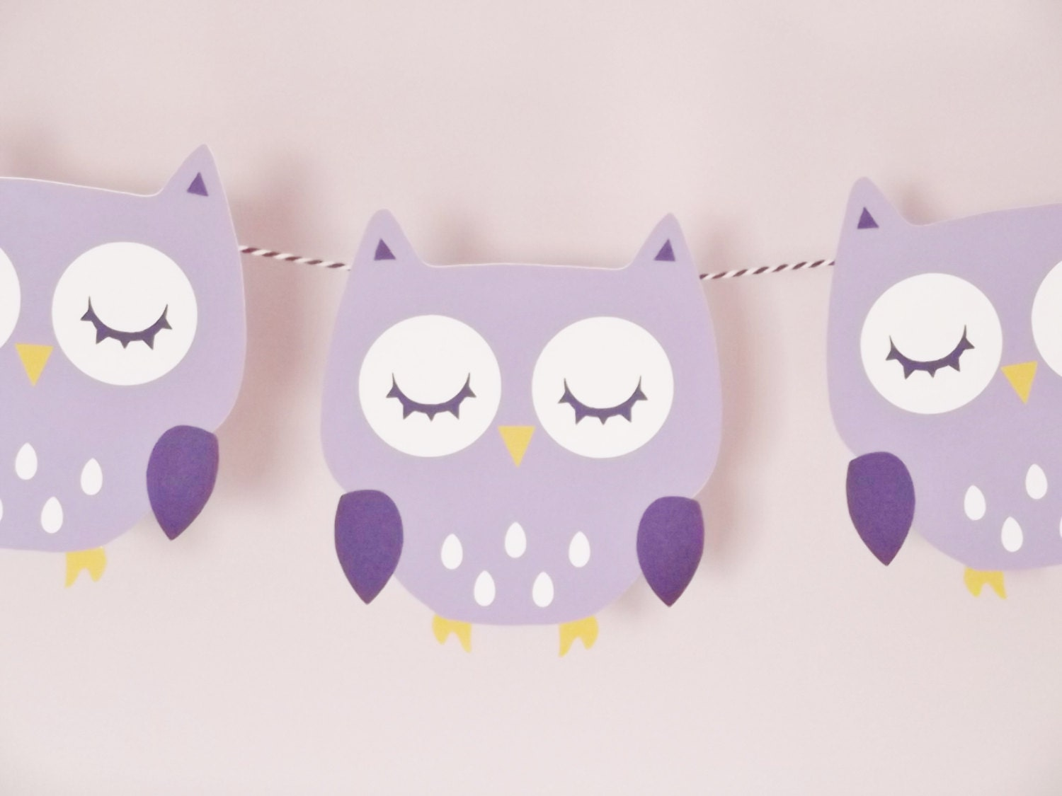 purple owl banner baby shower party room decor