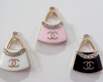 18mm*23mm 2CT. Chanel Inspired Purse Charms, Y6