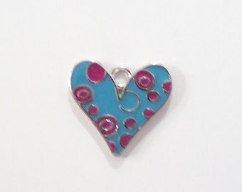 5CT Silver Toned Heart Charms, Y5